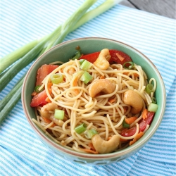 Asian Cashew Noodle Salad