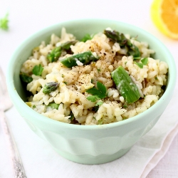 Asparagus Spring Onion Risotto