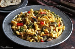 Autumn vegetable pasta