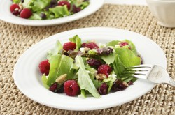 Baby Lettuce Salad with Raspberries