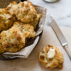 Bacon and Blue Cheese Drop Biscuits Recipe
