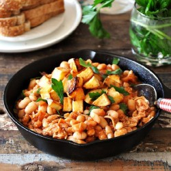Baked Beans with Crispy Potato