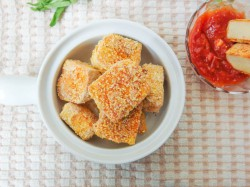 Baked Sweet and Sour Pineapple Sriracha Tofu Nuggets Recipe