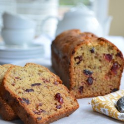 Banana Bread with Dried Cranberies