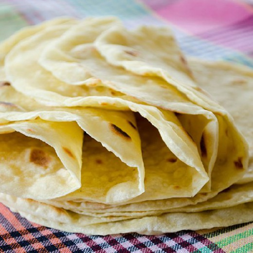 Basic Homemade Flour Tortilla
