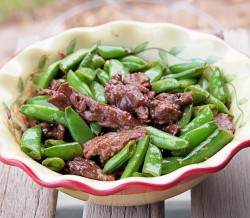 Beef Stir Fry with Snap Peas