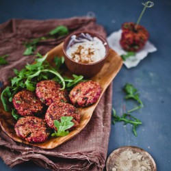 Beetroot Arugula Quinoa Patties