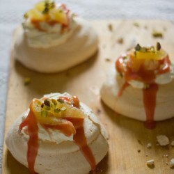 Bergamot and Blood Orange Pavlovas