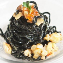 Black Ribbon Spaghetti