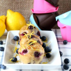 Blueberry Lemon Sugar Cupcakes