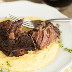Braised Short Ribs and Cheesy Grits