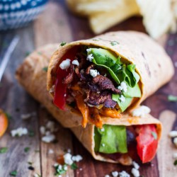 Buffalo Chicken Avocado BLT Wraps