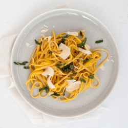 Butternut Squash Linguine with Fried Sage Recipe