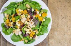 Butternut Squash Salad with Cheddar Cranberries and Red Apple Balsamic Dressing Recipe