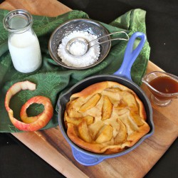 Caramel Apple Irish Whiskey Clafouti Recipe