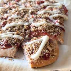 Cherry Cobbler Dessert Pizza