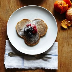 Chestnut and Chia Seed Pancakes