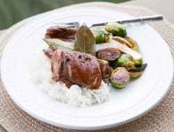 Chicken Adobo with Brussels Sprouts Recipe