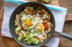Chilaquiles with Chipotle Adobe Pepper and Avocado Recipe