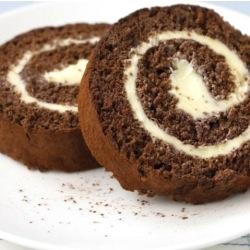 Chocolate and Buttercream Swiss Roll