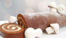 Chocolate and Mascarpone Yule Log