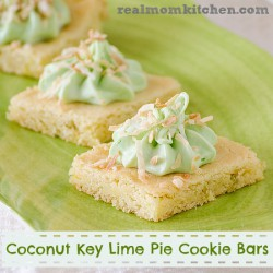 Coconut Key Lime Pie Cookie Bars