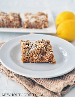 Coconut Lemon Crumb Bars