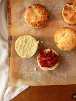 Coconut Scones with Vanilla Bean Rhubarb Compote Recipe