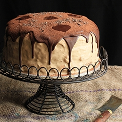 Coffee Chocolate Mascarpone Layer Cake Recipe