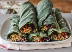 Collard Green Wraps with Chickpea Walnut Recipe