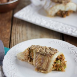 Crabmeat Stuffed Encrusted Cod