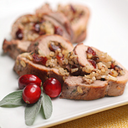 Cranberry Walnut Stuffed Pork Tenderloin Recipe