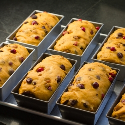 Cranberry-Pecan Pumpkin Loaves