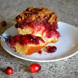 Cranberry-plum Coffee Cake
