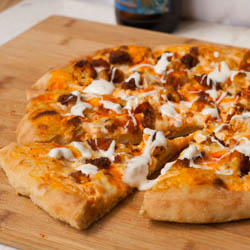 Crispy Buffalo Chicken Pizza