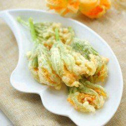 Deep-Fried Pumpkin Flowers