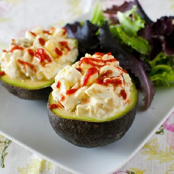 Egg Salad Stuffed Avocados