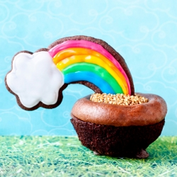 End of the Rainbow Cupcakes