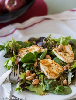 Field Green Salad Fried Halloumi