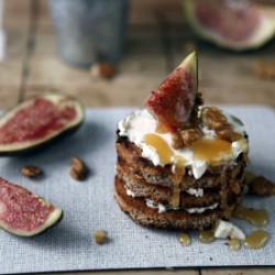 Fig Goat Cheese Honey Tower