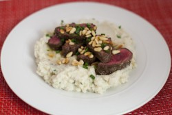 Flank Steak w/ Cauliflower Mash