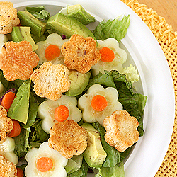 Flower Shaped Croutons
