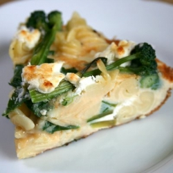 Frittata with Pasta and Greens