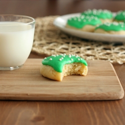Frosted Fluffy Sugar Cookies Recipe