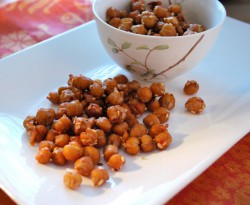 General Tso's Roasted Chickpeas
