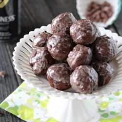 Glazed Chocolate Guinness Doughnut Holes Recipe