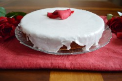 Glazed Rose Cardamom Cake