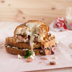 Grilled Goat Cheese Bacon Sandwich