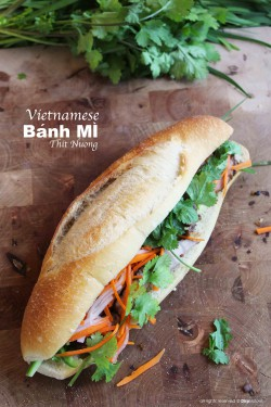 Grilled Pork Banh Mi Sandwich Recipe