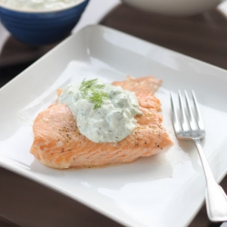 Grilled Salmon and Herb Tzatiki